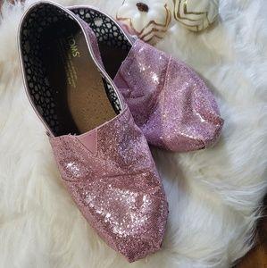 Pink glitter Tom's
